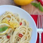 Linguine al limone e basilico
