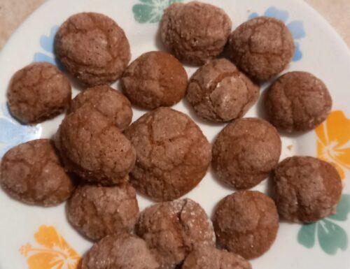 """Amaretti """"finti"""" all'arancia e cacao"""