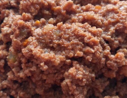 Ragù di carne con pentola a pressione