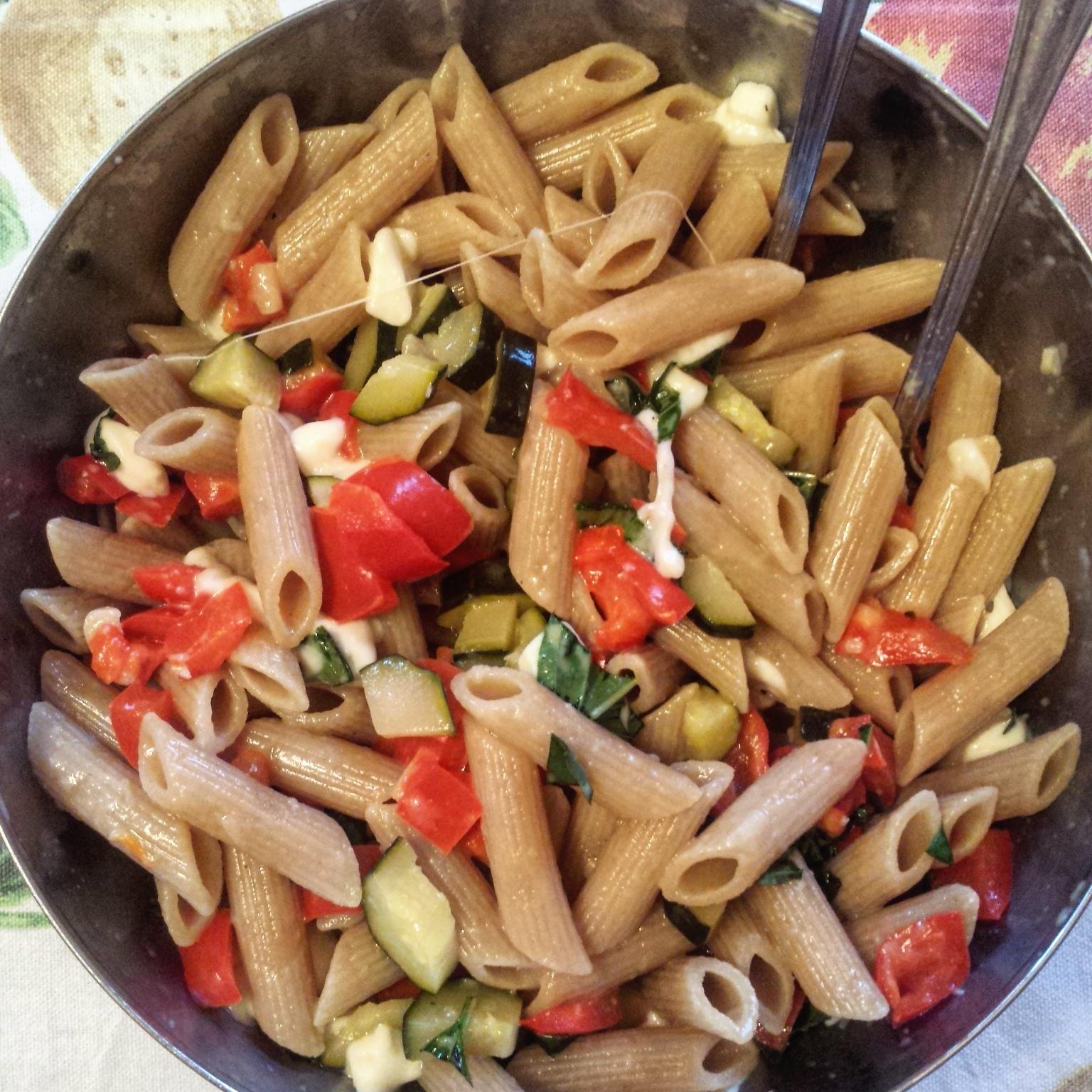 pasta integrale  Pasta integrale con zucchine e peperoni - Fancy Dinner
