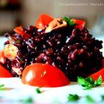 riso venere con pomodorini e cozze