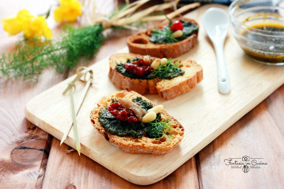 Il pesto di finocchietto selvatico fresco ricetta siciliana