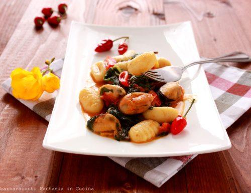 Gnocchi mari e monti ricetta siciliana