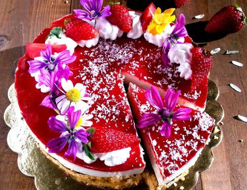 Cheesecake cioccolato e fragole facile