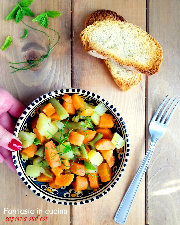 Ricetta insalata di patate carote e fagiolini