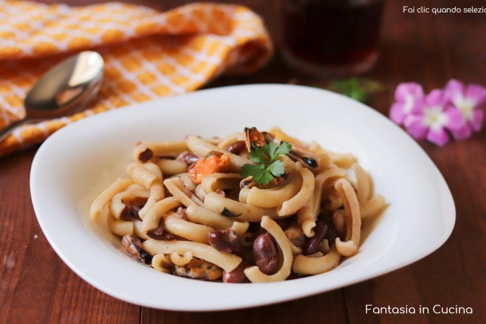 Ricetta pasta fagioli e cozze in bianco