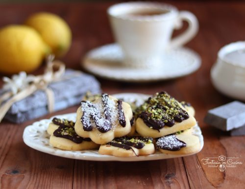 Biscotti al burro e cioccolato di Modica