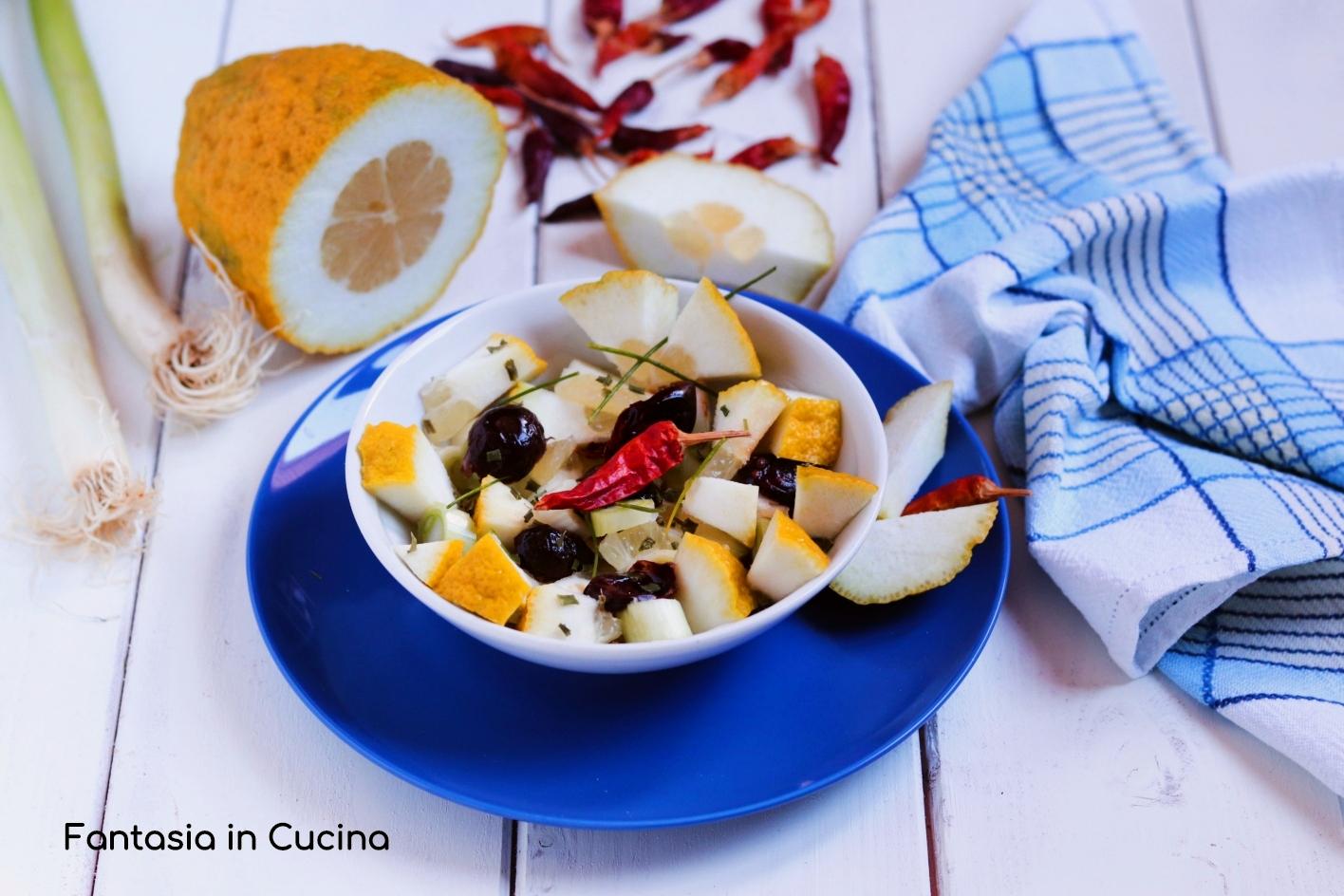 Insalata di cedro ricetta Siciliana - Fantasia in cucina