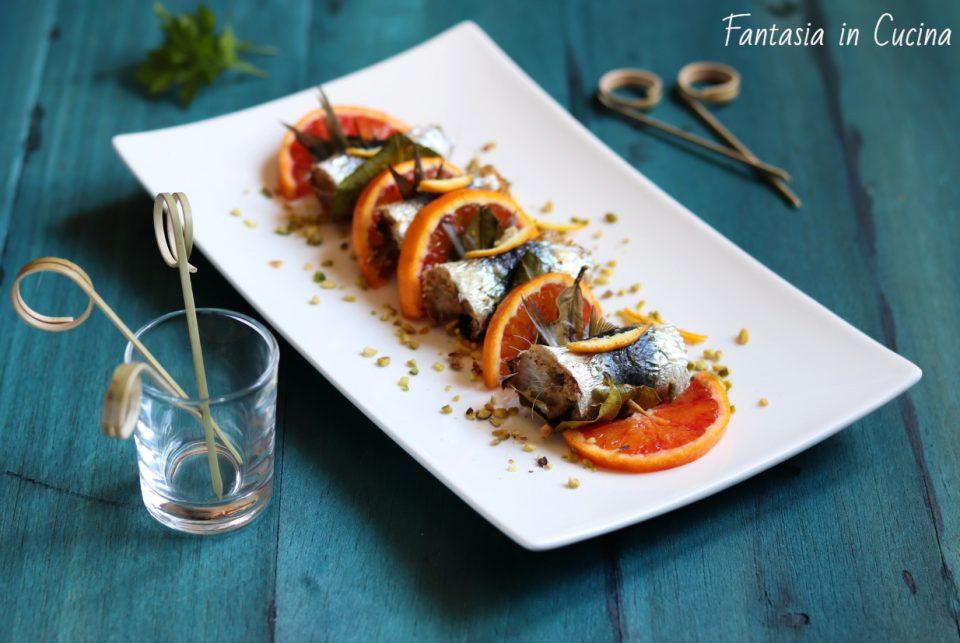 Involtini di sarde a beccafico-ricetta siciliana