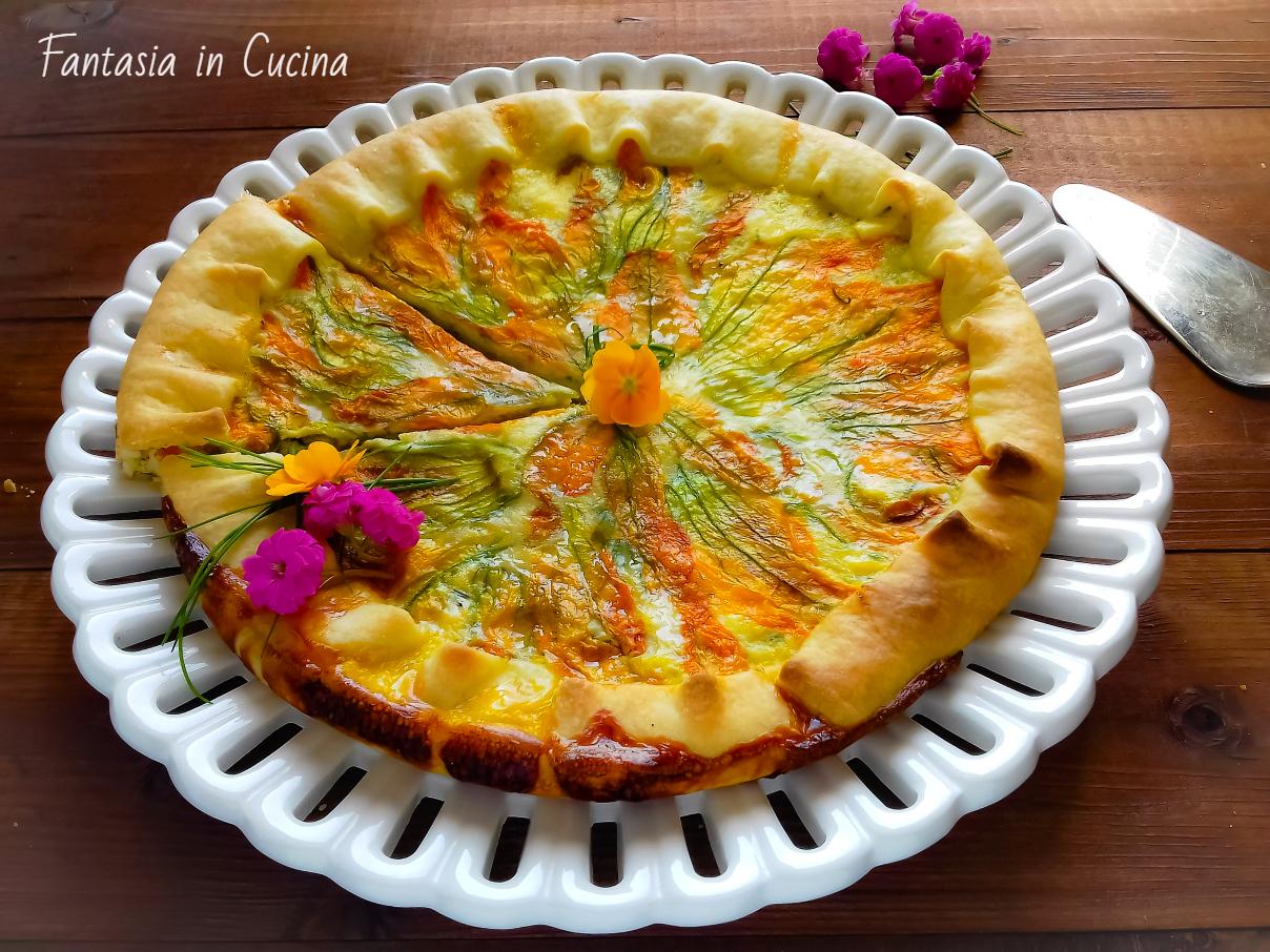 Fiori Salati Giallo Zafferano.Torta Salata Ai Fiori Di Zucca Fantasia In Cucina