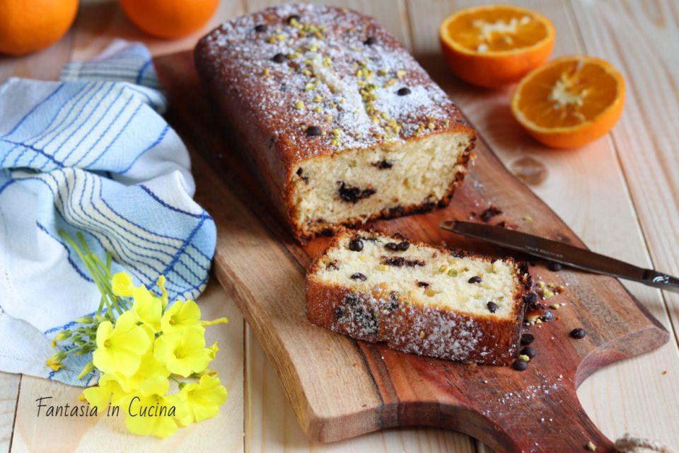 Ricetta Plum-cake con arancia e cioccolato.