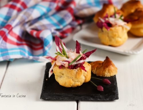 Ricetta: bignè salati con i gamberetti