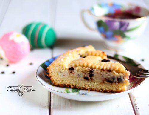 Crostata ricotta e cioccolato morbida.