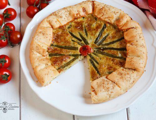 Torta salata asparagi e pomodorini ciliegino