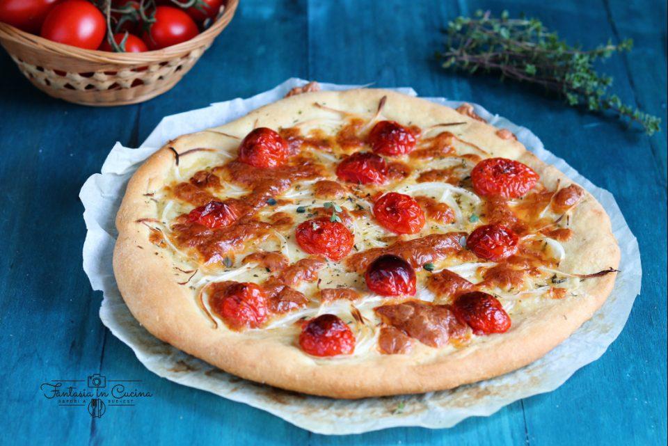 Pizza con il Ciliegino e la cipolla di Giarratana