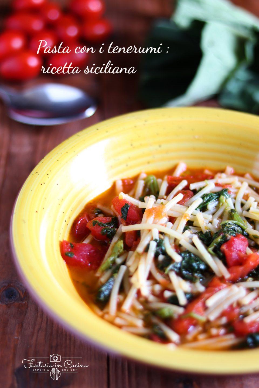 Pasta con i tenerumi ricetta siciliana