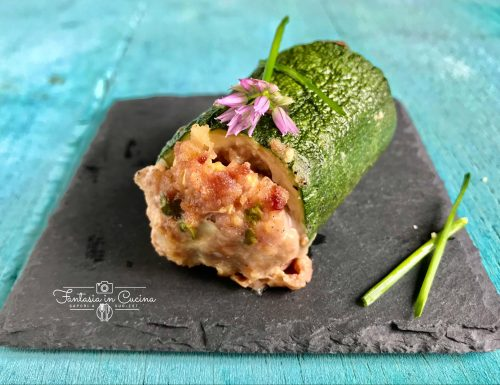 Ricetta: zucchine ripiene al forno