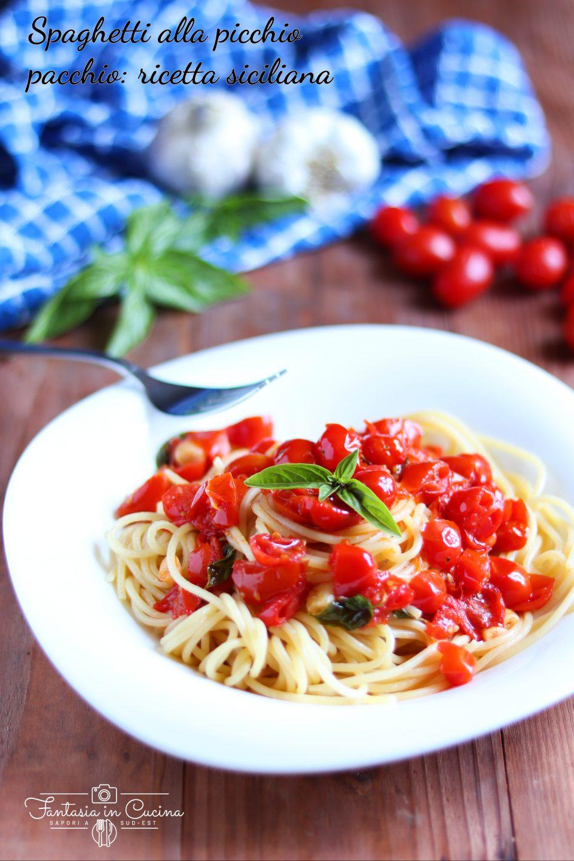 spaghetti alla picchio pacchio_ ricetta siciliana