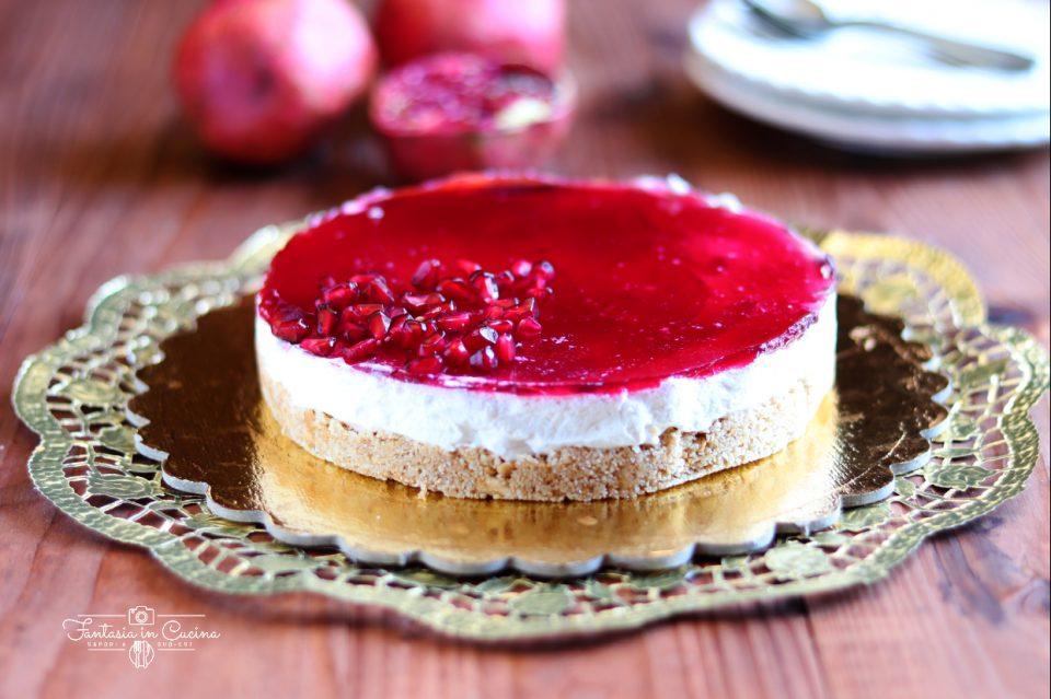 Cheesecake alla melagrana: ricetta facile.