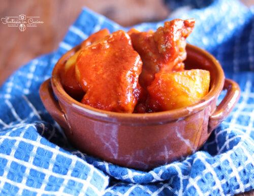 Carne di maiale al sugo: ricetta Siciliana