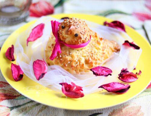 Colombine di pasta di pane al sesamo