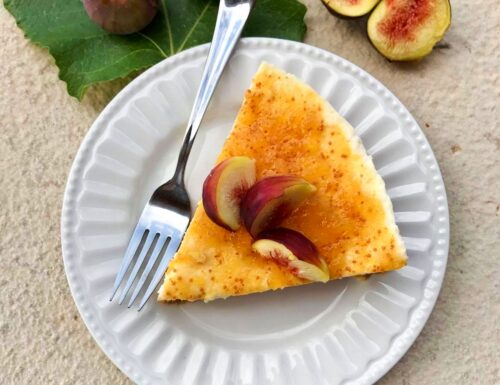 Cheesecake con crema di ricotta e fichi