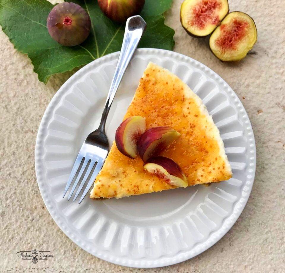 Cheesecake: con crema di ricotta e fichi
