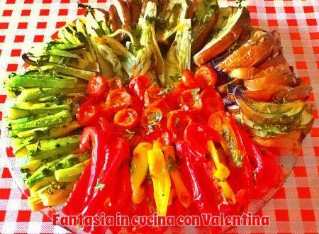 Mosaico di verdure al forno