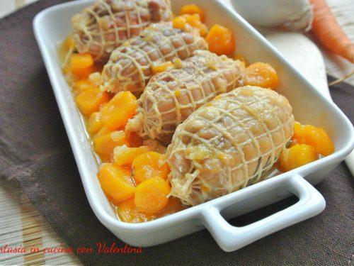 Involtini di tacchino con carote