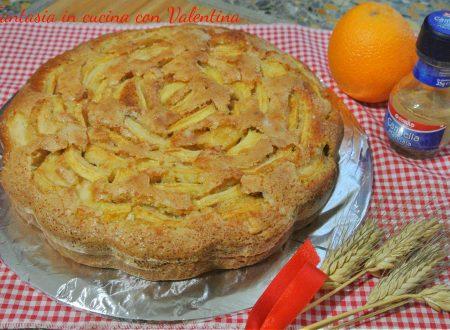Torta di mele al profumo di arancia e cannella