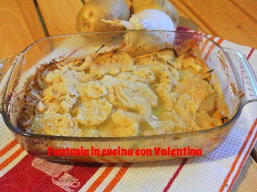 Tortino di patate e cipolle gratinate