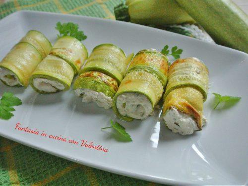 Involtini di zucchina con mousse di tonno