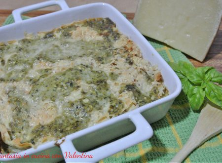 Lasagne di Pane carasau pesto e pecorino