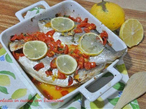Orata pomodorini e limone al forno