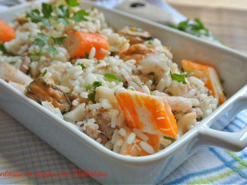 Insalata di riso con frutti di mare