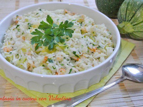 Riso basmati con zucchine e gamberetti