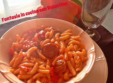Gnocchetti con salsiccia e peperoni