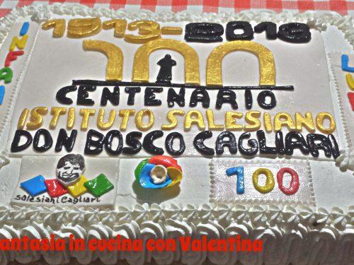 Torta centenario Salesiani Cagliari