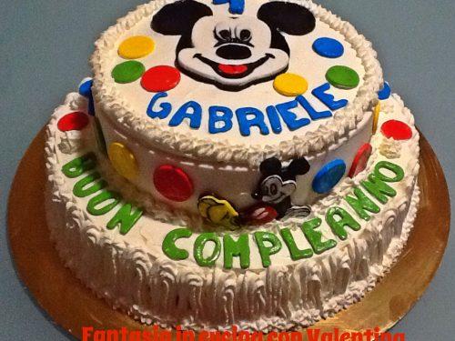 Torta compleanno di Topolino