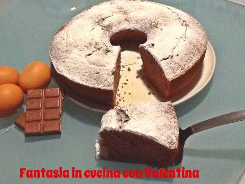 Torta cioccolato, panna e albumi