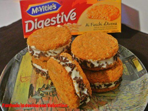 Biscotto gelato al mascarpone panna e cioccolato