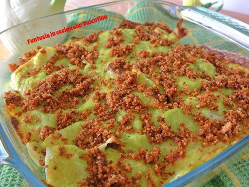 Finocchi gratinati con besciamella vegetale