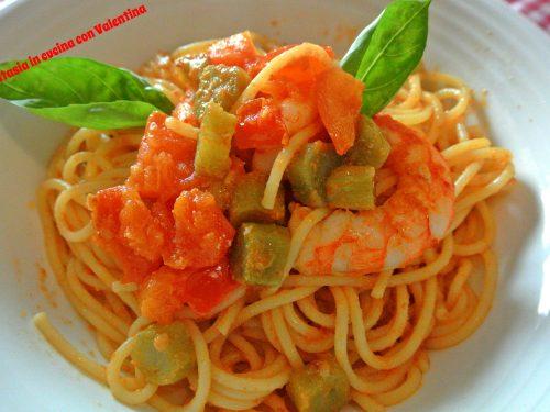 Spaghetti carciofi, gamberi e bottarga
