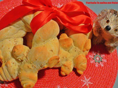 Ghirlanda di pane natalizia