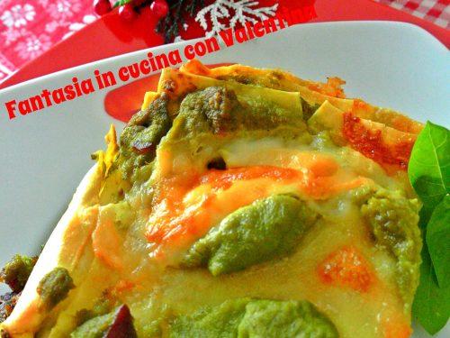 Lasagne con ragù verde