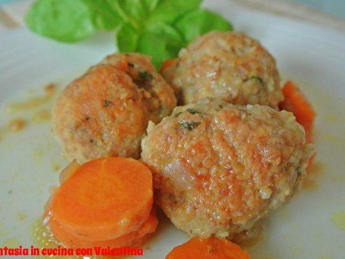Polpette di pollo e tacchino con carote