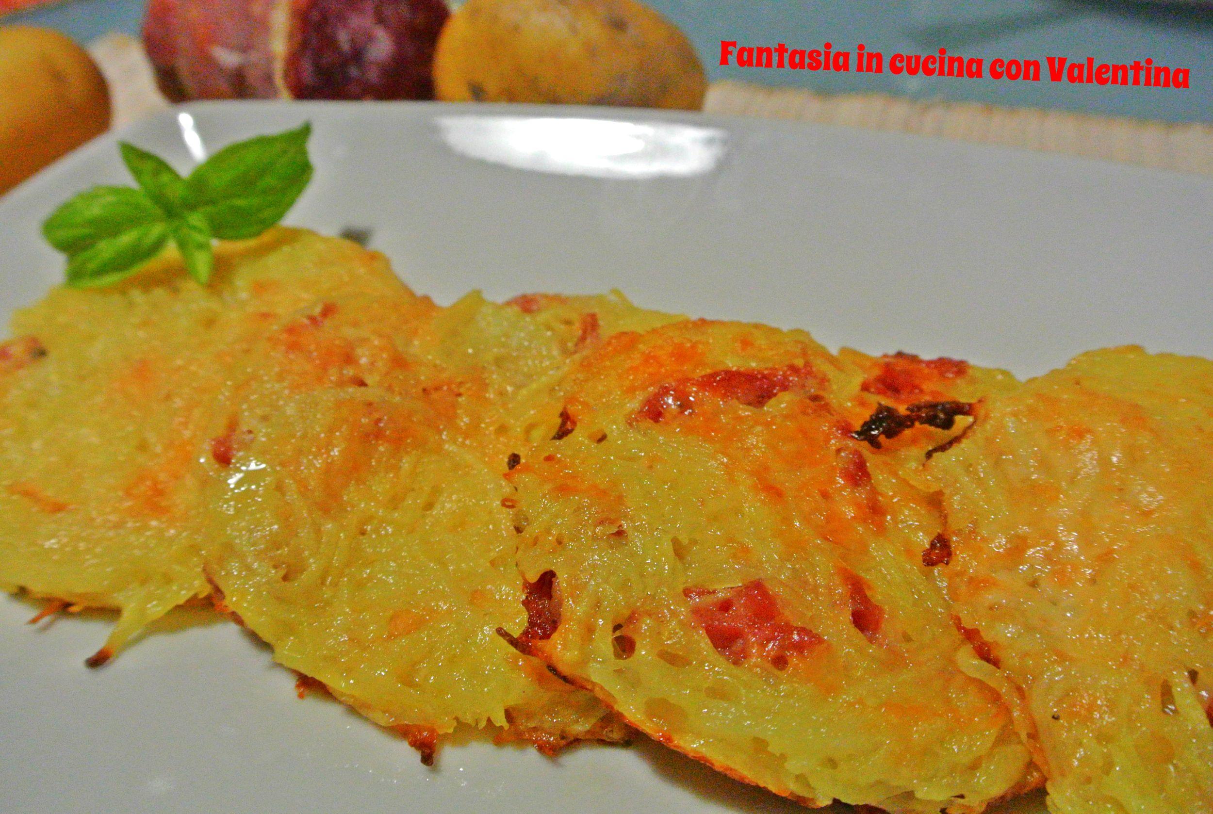 Rosti di patate salame e provola affumicata