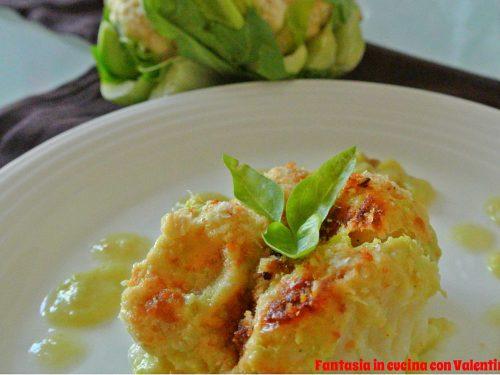 Cavolfiore gratinato con besciamella vegetale