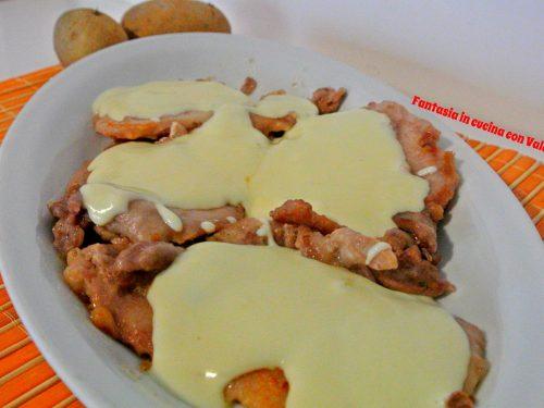 Scaloppine con crema di patate al tartufo