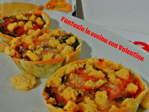 Cestinetti di melanzane alla parmigiana croccanti